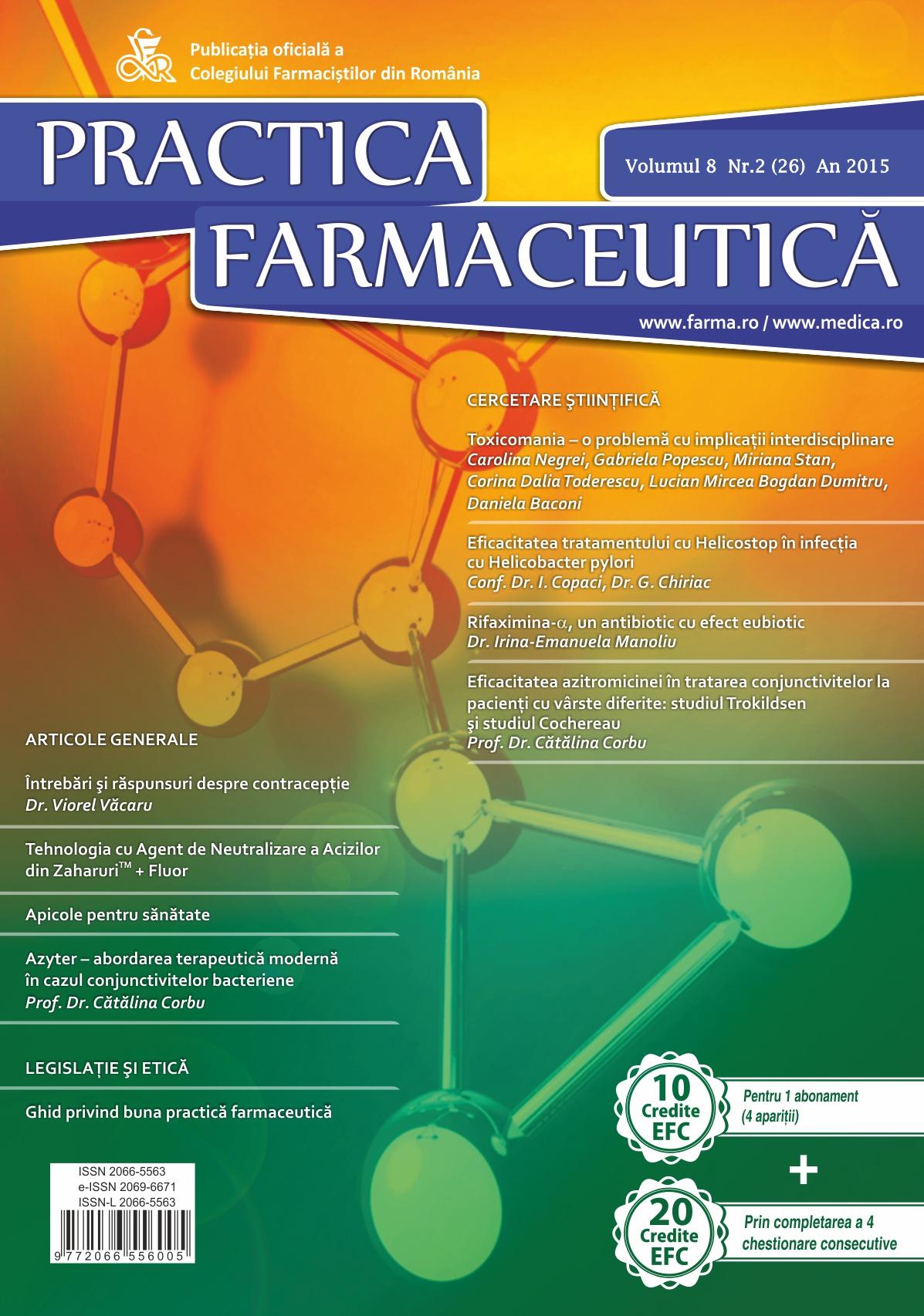 Revista Practica Farmaceutica, Vol. VIII, No. 2 (26), 2015