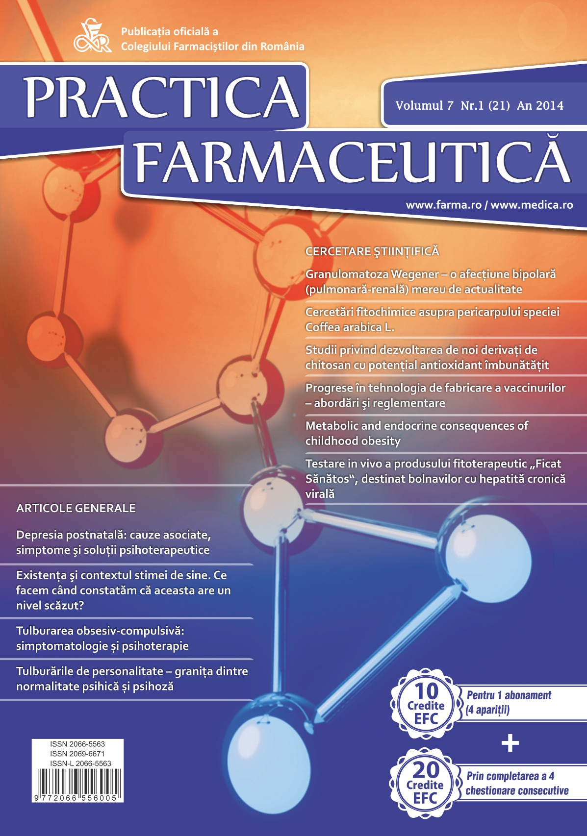 Revista Practica Farmaceutica, Vol. VII, No. 1 (21), 2014