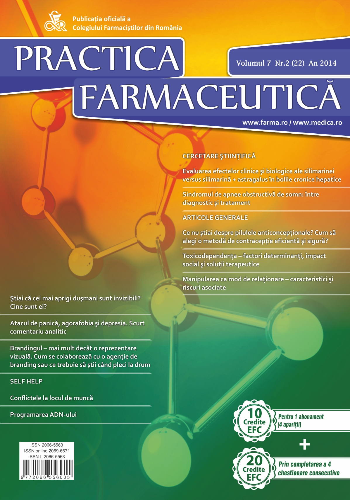 Revista Practica Farmaceutica, Vol. 7, Nr. 2 (22), 2014