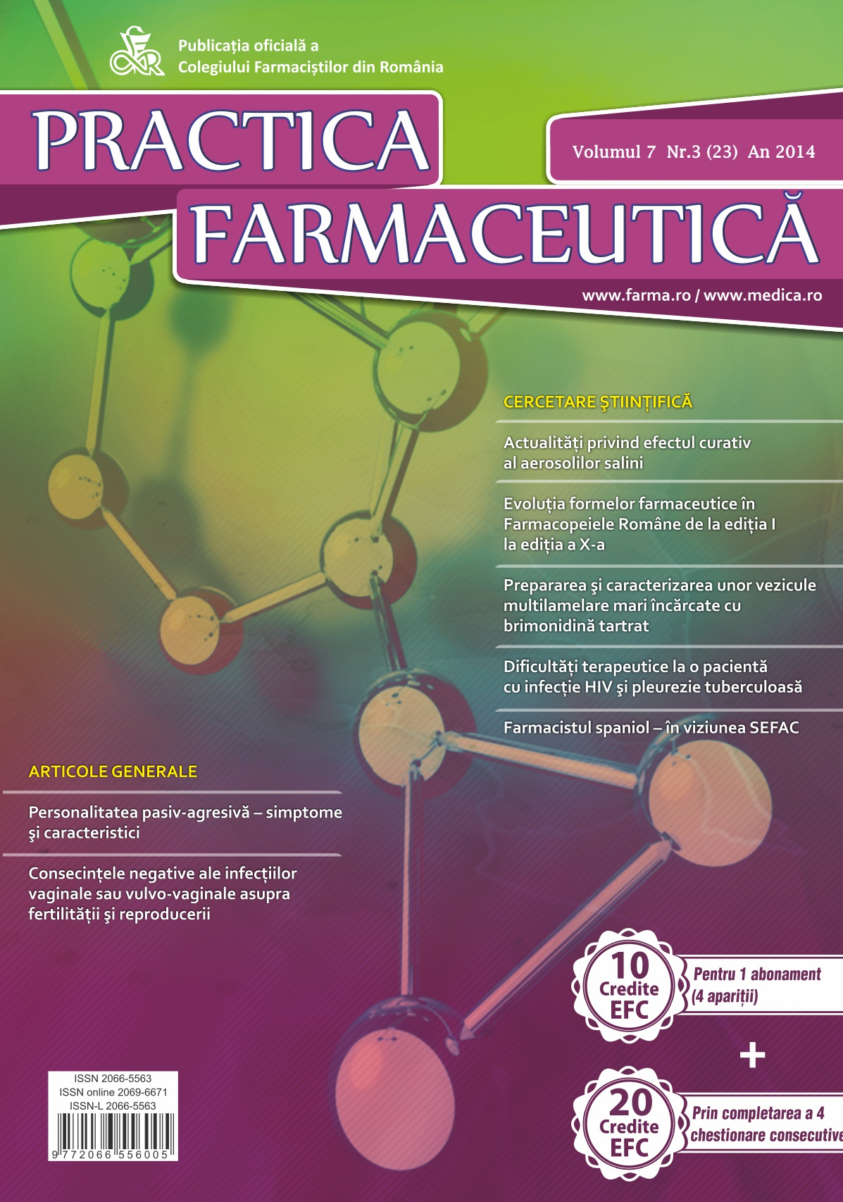 Revista Practica Farmaceutica, Vol. 7, Nr. 3 (23), 2014