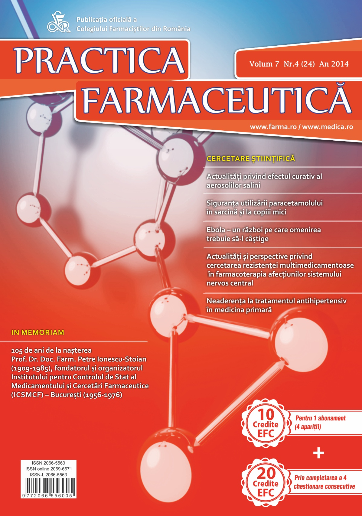 Revista Practica Farmaceutica, Vol. VII, No. 4 (24), 2014