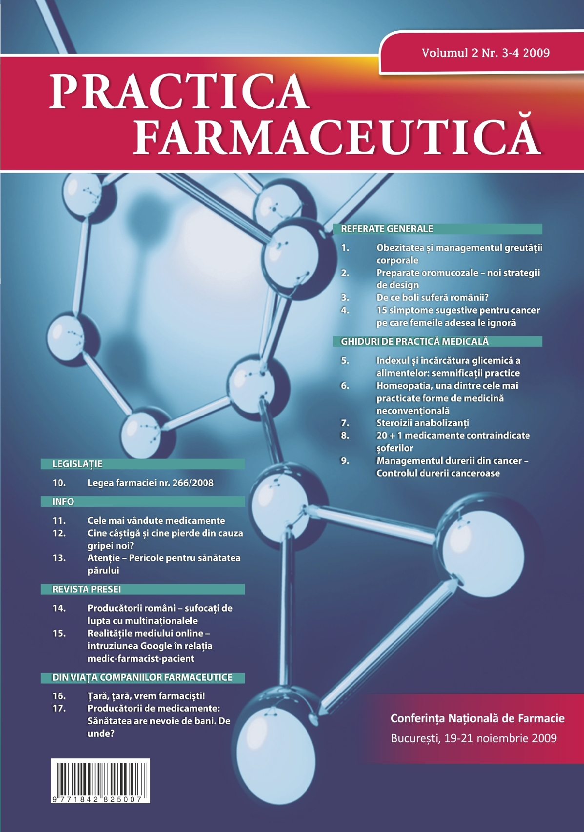 Revista Practica Farmaceutica, Vol. 2, Nr. 3-4, 2009