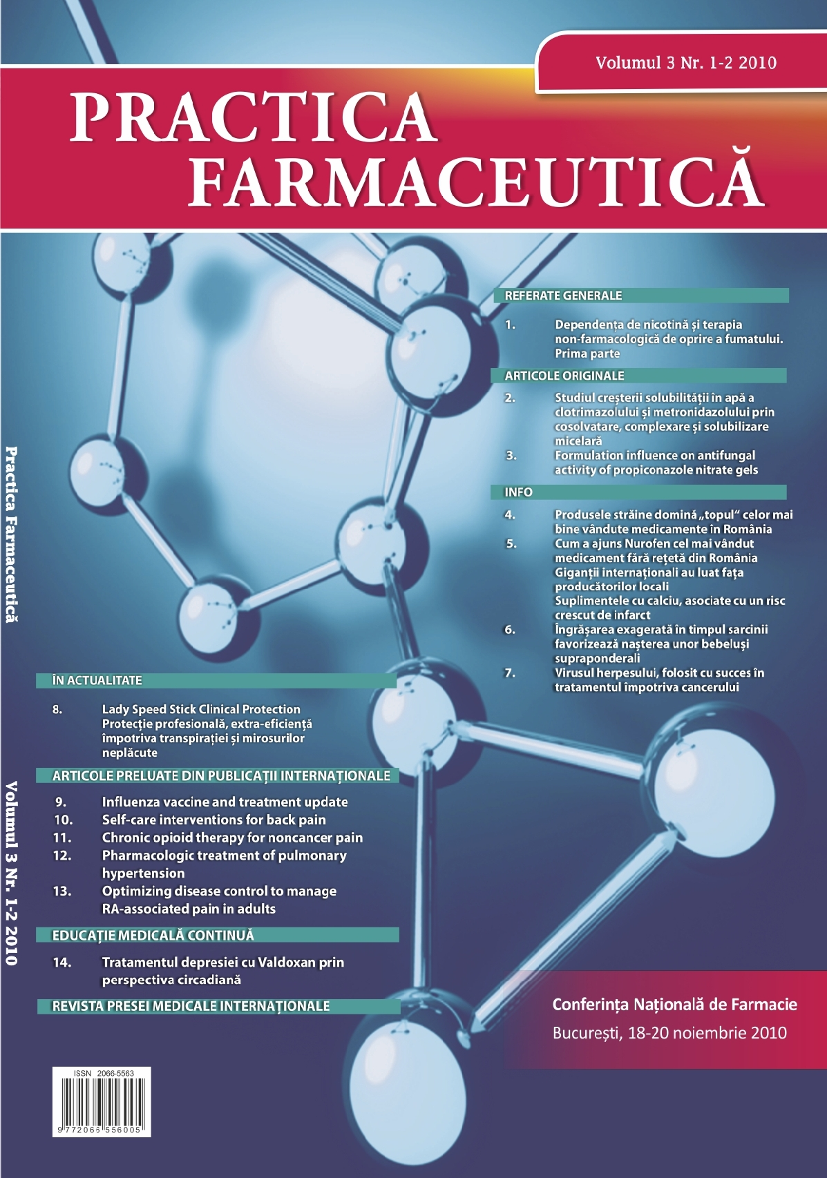 Revista Practica Farmaceutica, Vol. 3, Nr. 1-2 (5-6), 2010