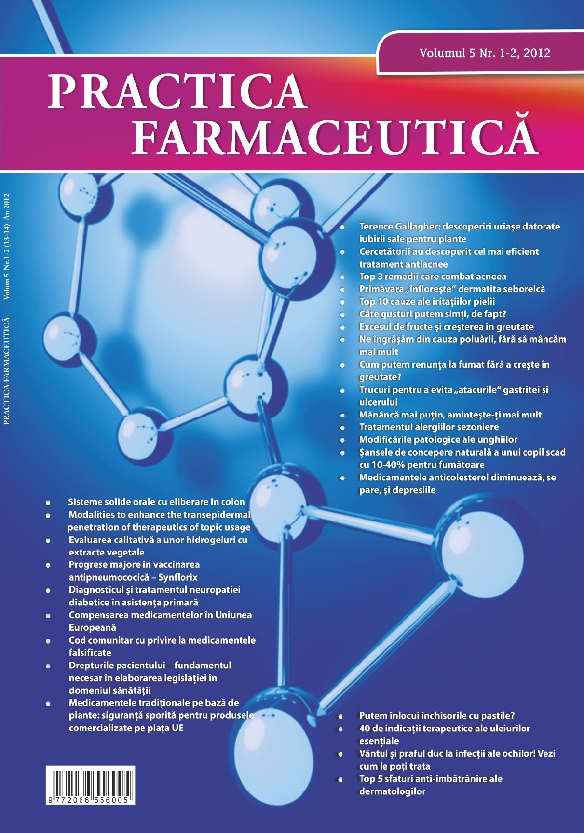 Revista Practica Farmaceutica, Vol. V, No. 1-2 (13-14), 2012