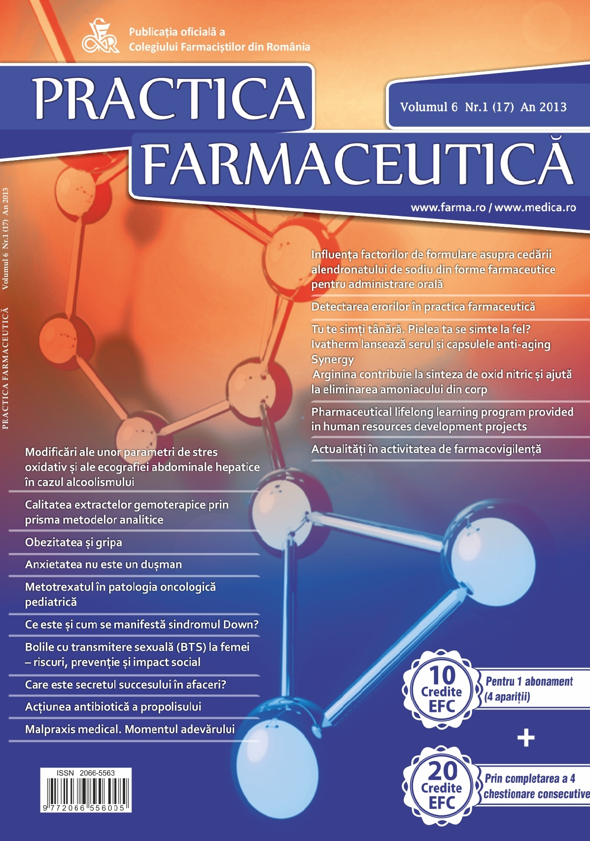 Revista Practica Farmaceutica, Vol. VI, No. 1 (17), 2013