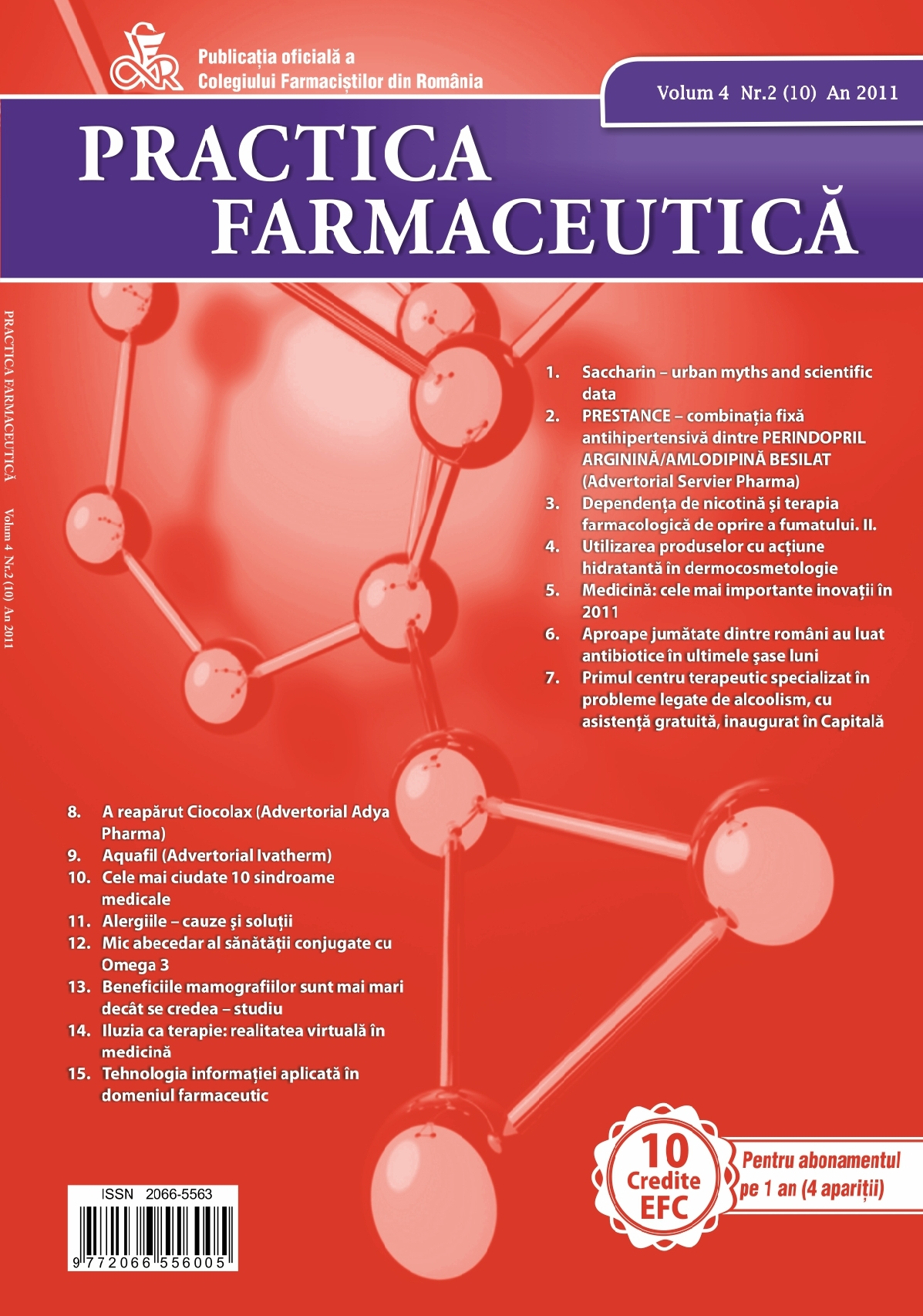 Revista Practica Farmaceutica, Vol. 4, Nr. 2 (10), 2011