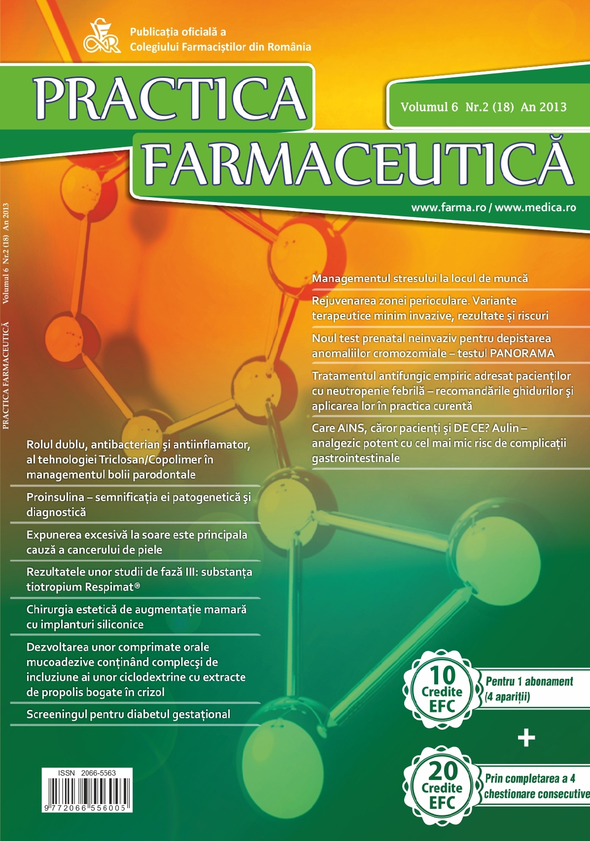 Revista Practica Farmaceutica, Vol. 6, Nr. 2 (18), 2013