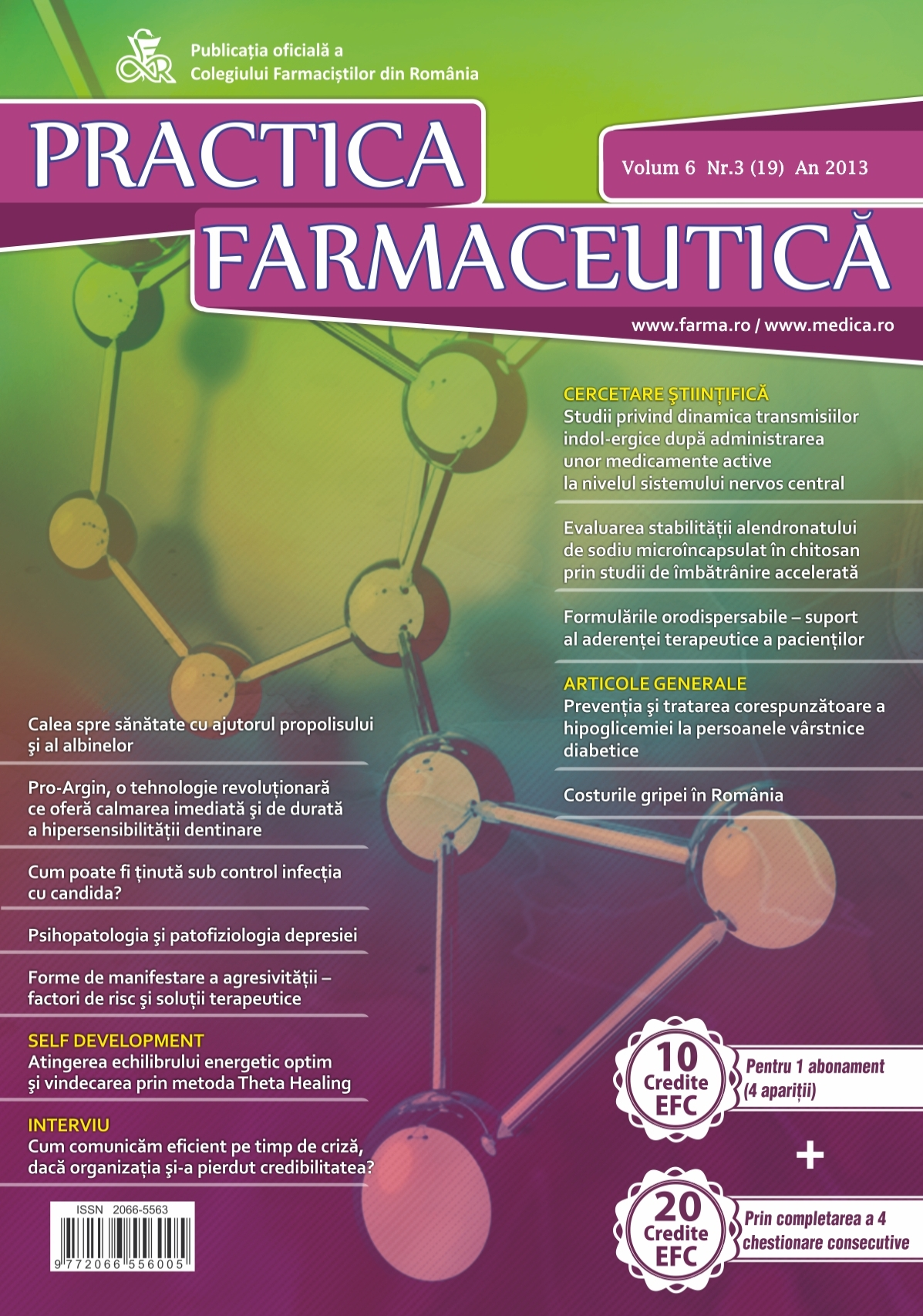Revista Practica Farmaceutica, Vol. 6, Nr. 3 (19), 2013