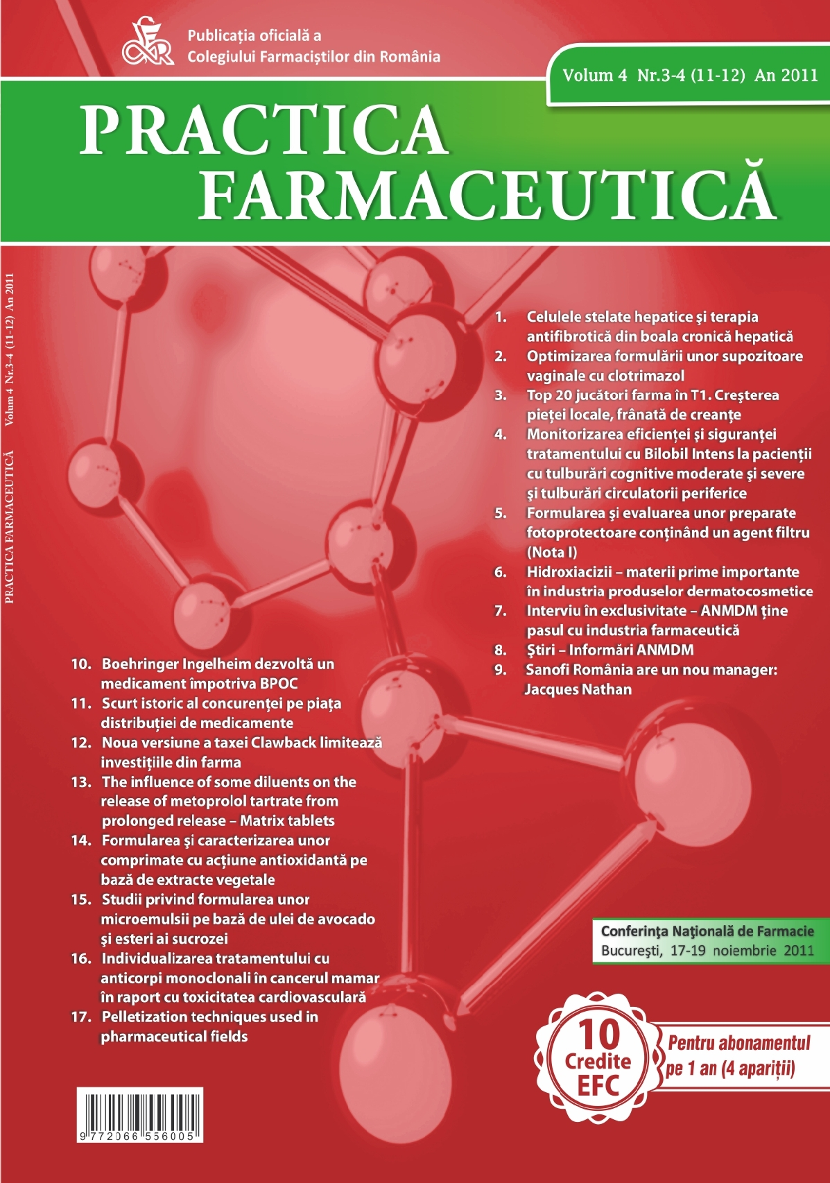 Revista Practica Farmaceutica, Vol. 4, Nr. 3-4 (11-12), 2011