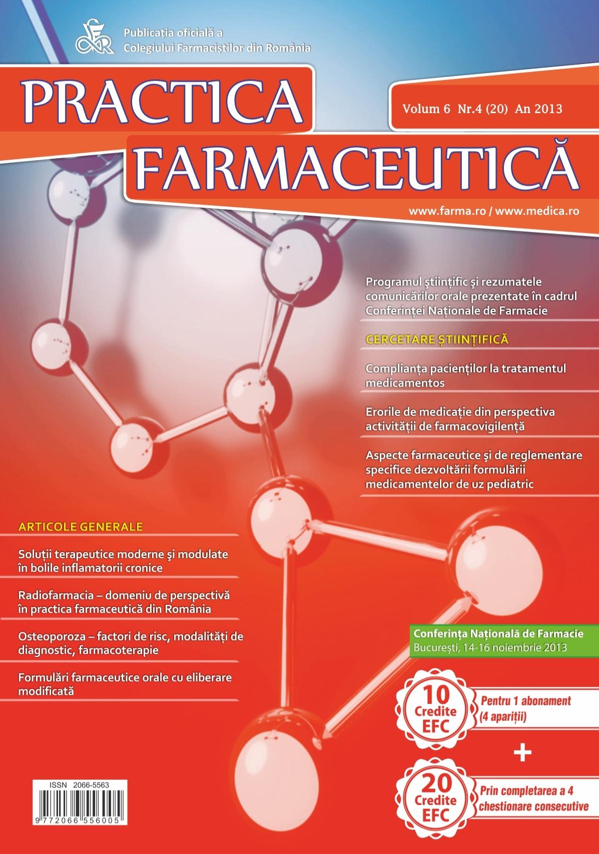 Revista Practica Farmaceutica, Vol. VI, No. 4 (20), 2013