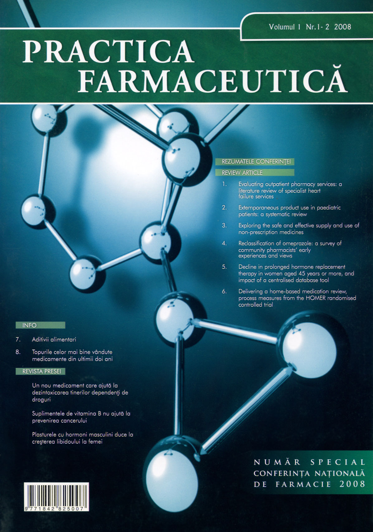 Revista Practica Farmaceutica, Vol. 1, Nr. 1-2, 2008