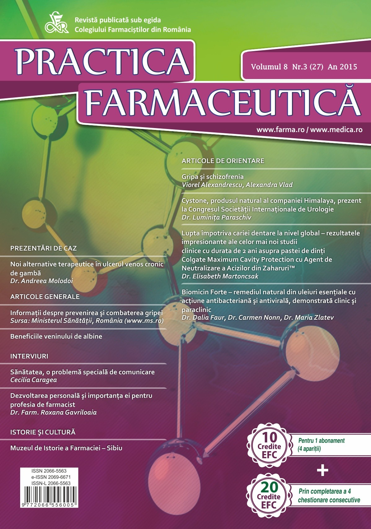 Revista Practica Farmaceutica, Vol. VIII, No. 3 (27), 2015
