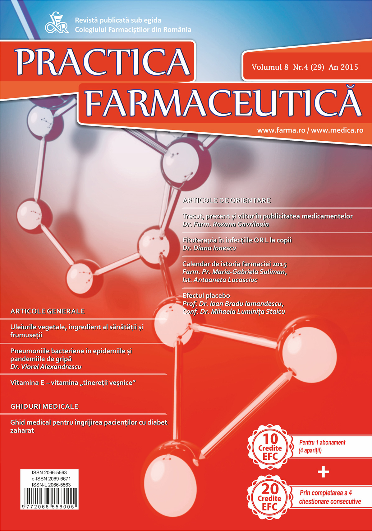 Revista Practica Farmaceutica, Vol. VIII, No. 4 (29), 2015