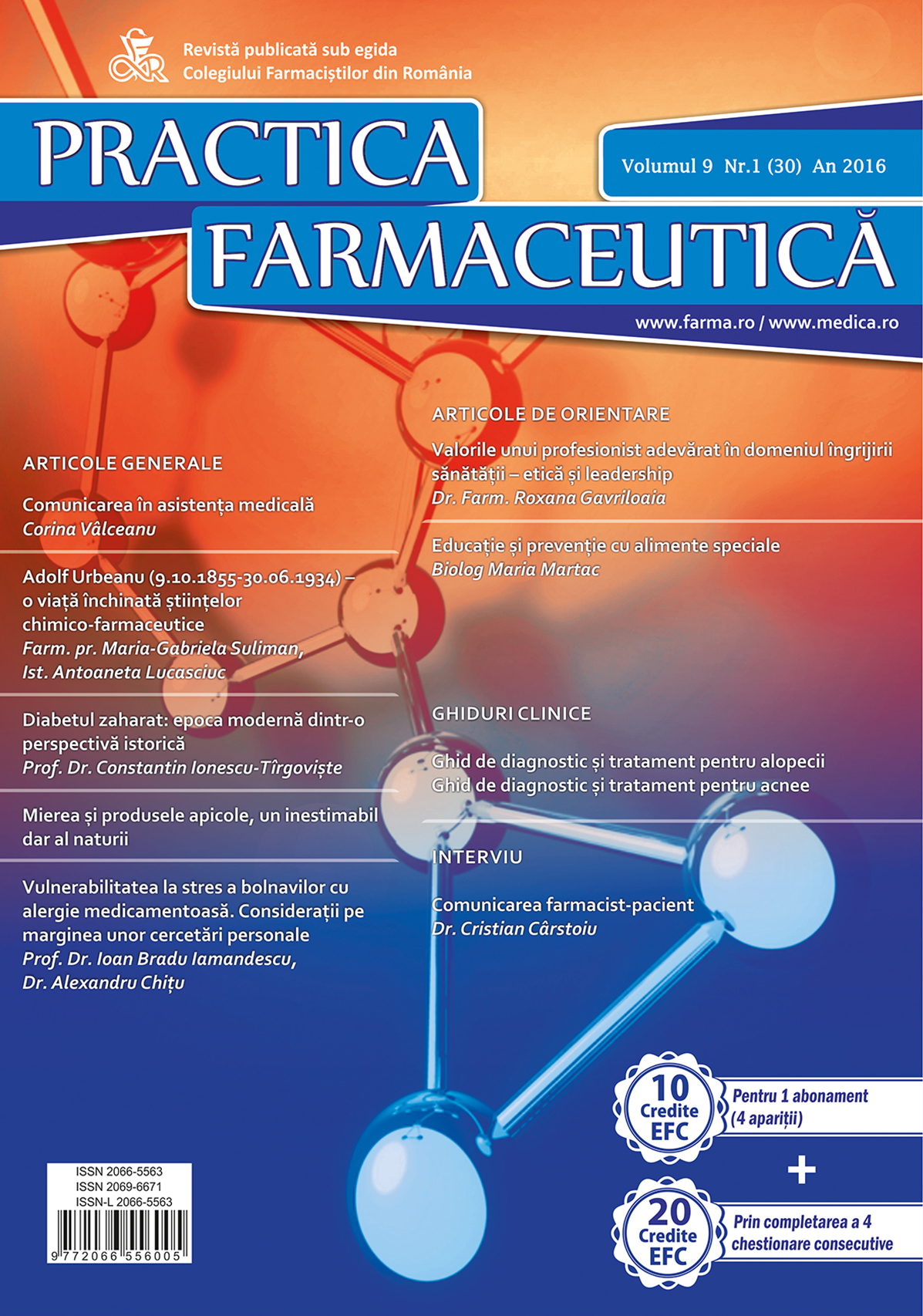 Revista Practica Farmaceutica, Vol. 9, Nr. 1 (30), 2016