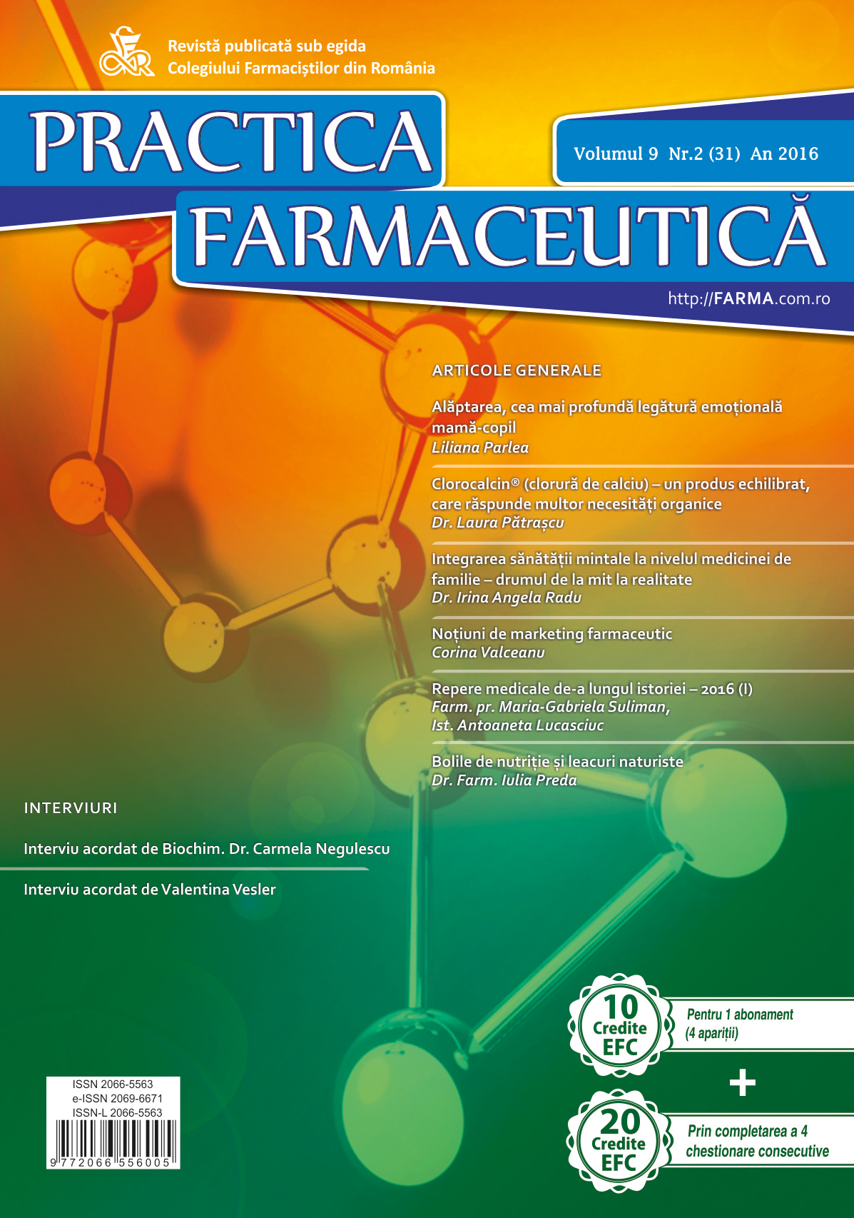 Revista Practica Farmaceutica, Vol. IX, No. 2 (31), 2016