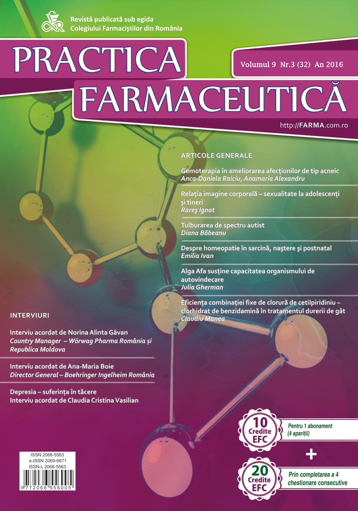 Revista Practica Farmaceutica, Vol. IX, No. 3 (32), 2016