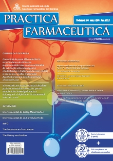 Revista Practica Farmaceutica, Vol. 10, Nr. 1 (35), 2017