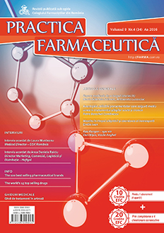 Revista Practica Farmaceutica, Vol. 9, Nr. 4 (34), 2016