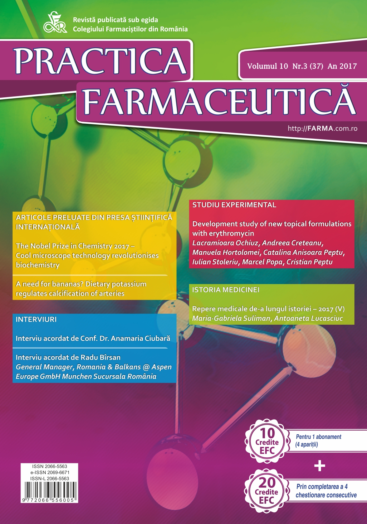 Revista Practica Farmaceutica, Vol. X, No. 3 (37), 2017