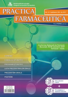 Revista Practica Farmaceutica, Vol. 10, Nr. S (38), 2017