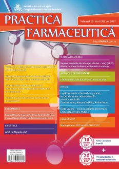 Revista Practica Farmaceutica, Vol. 10, Nr. 4 (39), 2017