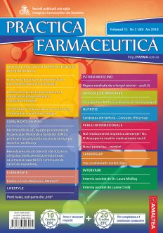Revista Practica Farmaceutica, Vol. 11, Nr. 1 (40), 2018