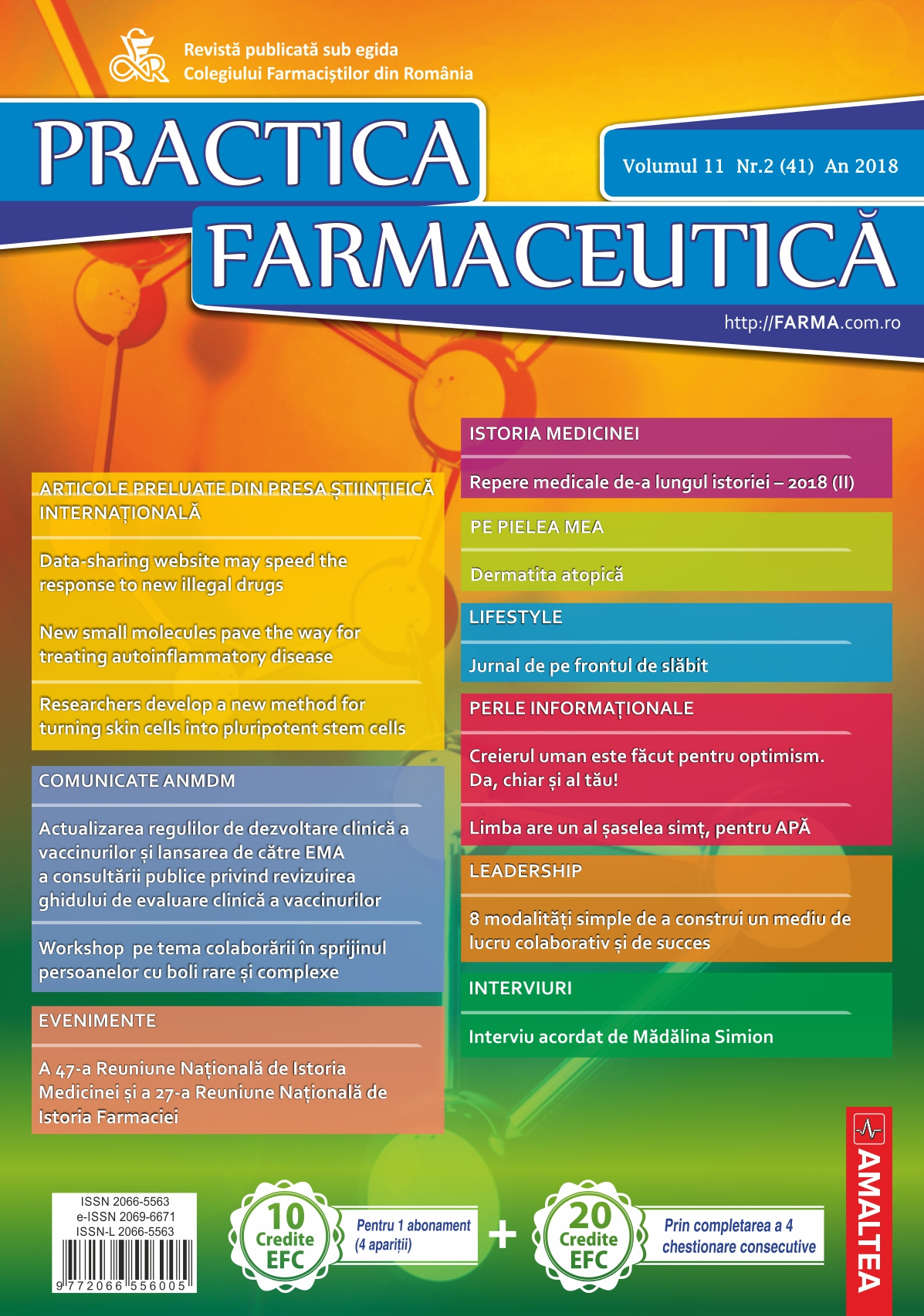 Revista Practica Farmaceutica, Vol. 11, Nr. 2 (41), 2018