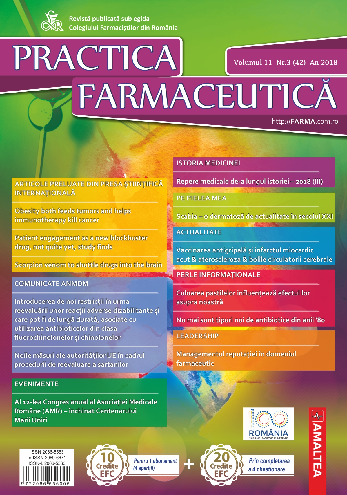 Revista Practica Farmaceutica, Vol. XI, No. 3 (42), 2018