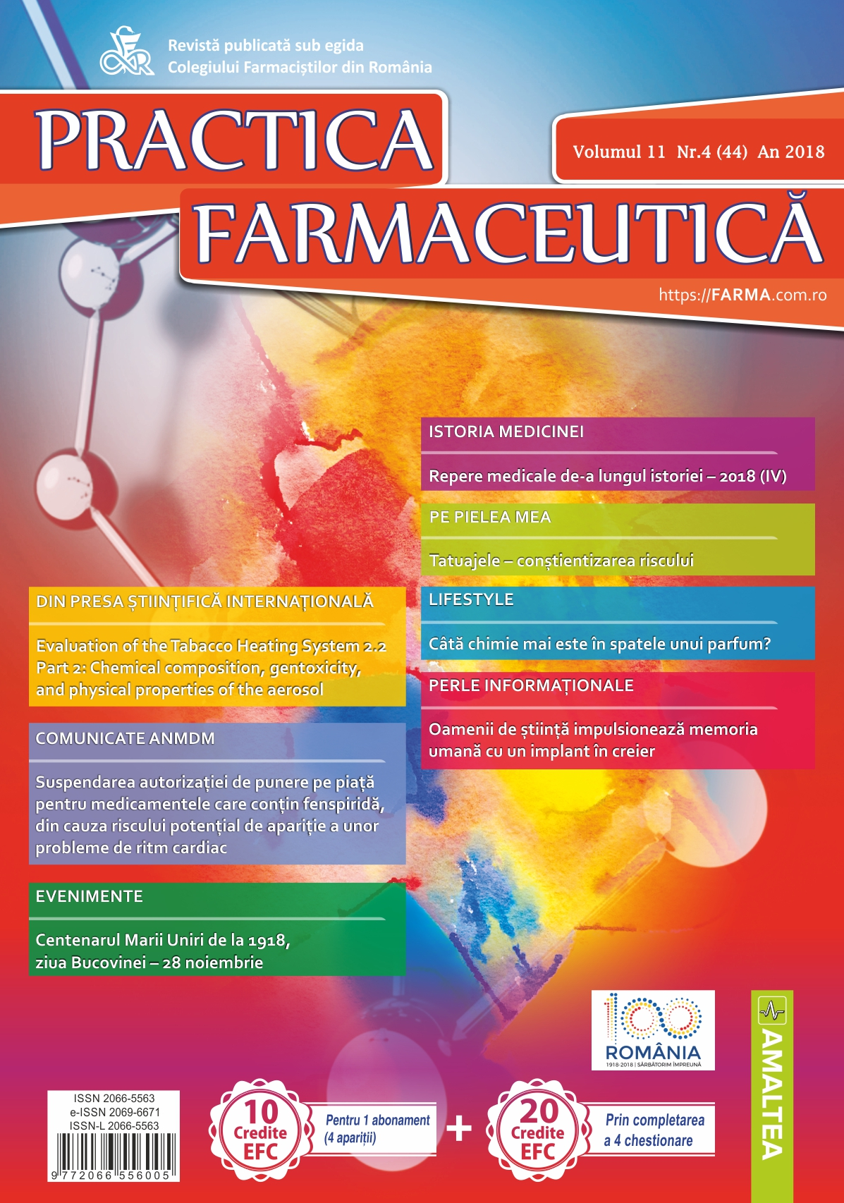 Revista Practica Farmaceutica, Vol. 11, Nr. 4 (44), 2018