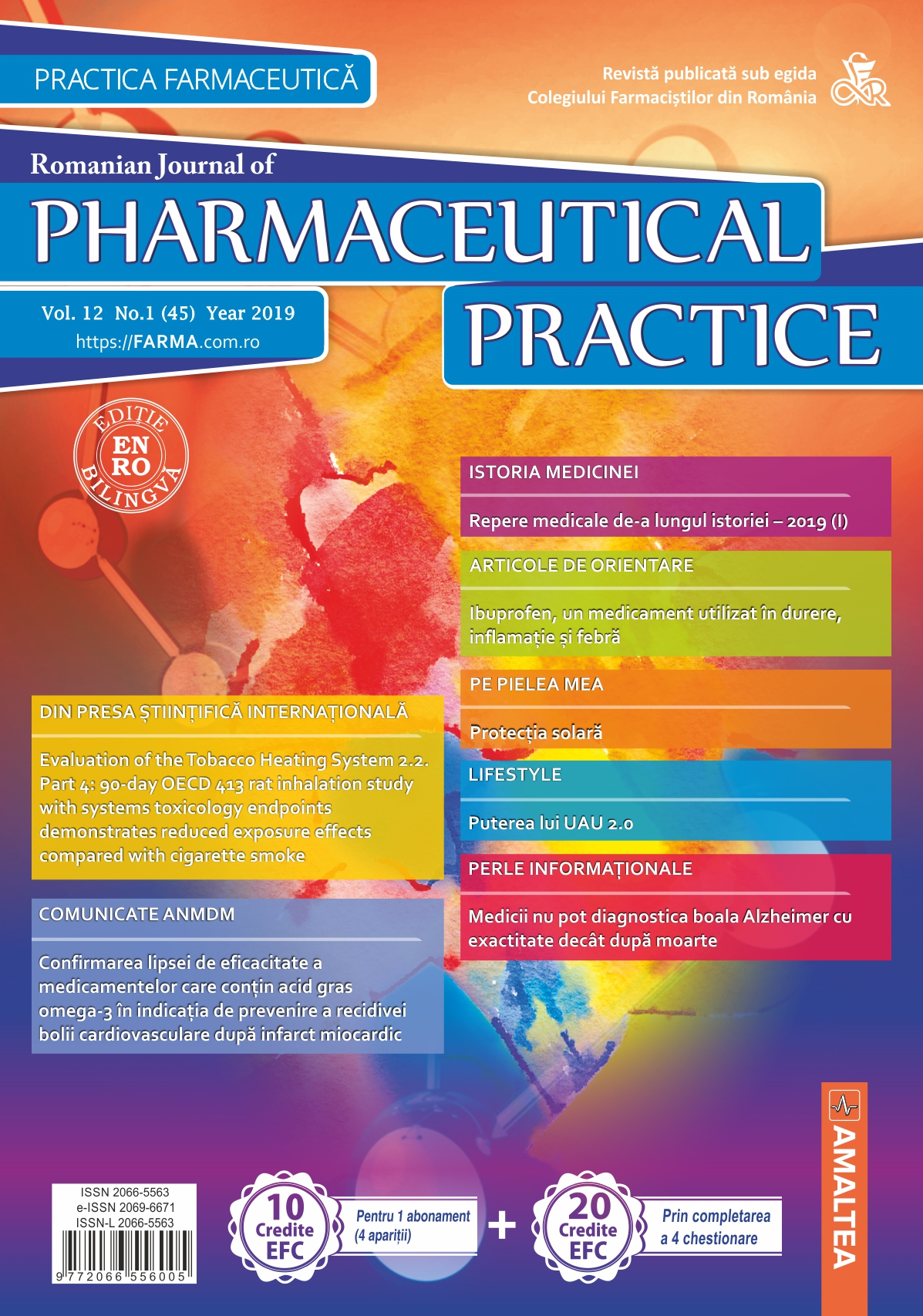 Romanian Journal of Pharmaceutical Practice - Practica Farmaceutica, Vol. 12, Nr. 1 (45), 2019