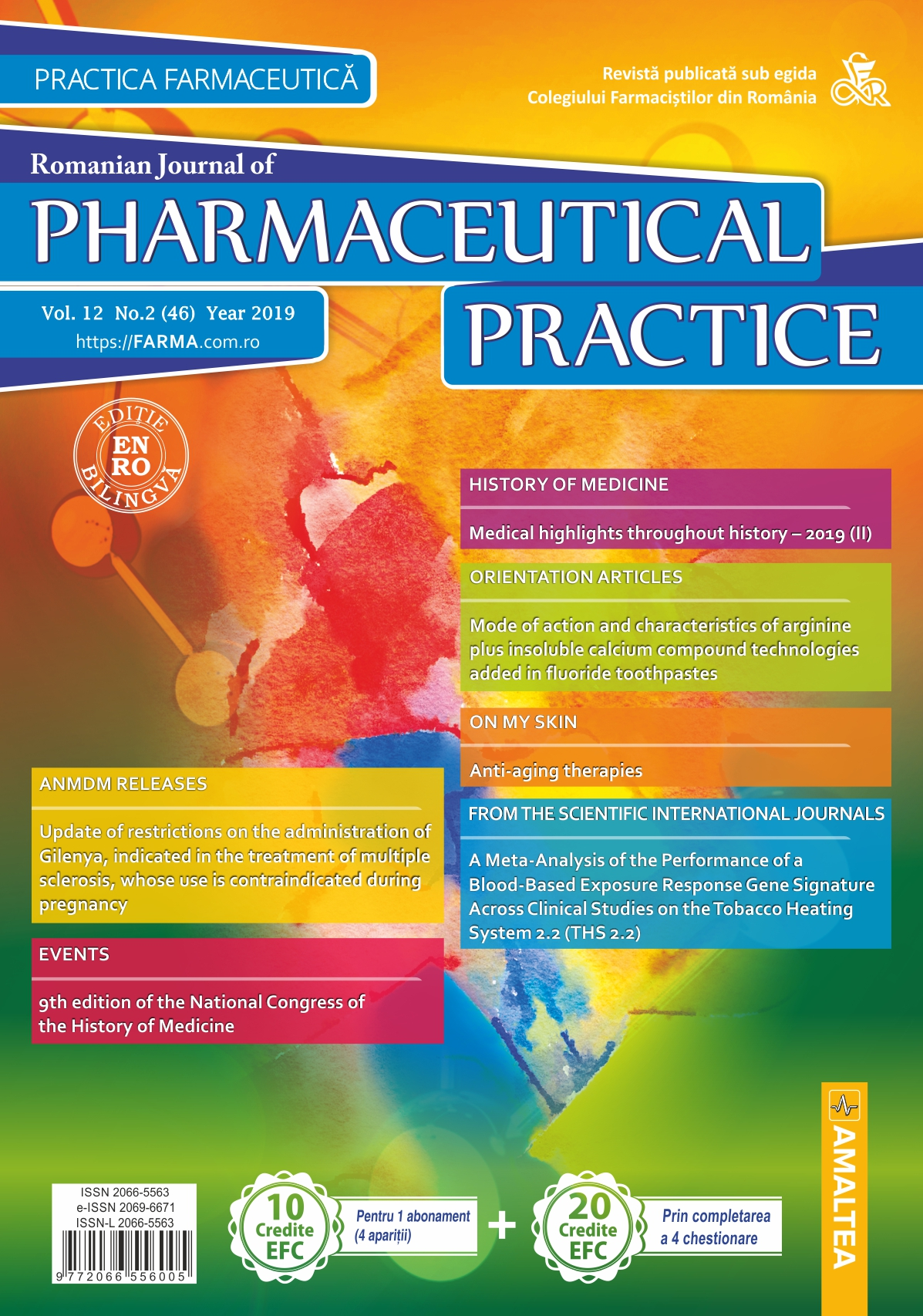 Romanian Journal of Pharmaceutical Practice - Practica Farmaceutica, Vol. 12, No. 2 (46), 2019