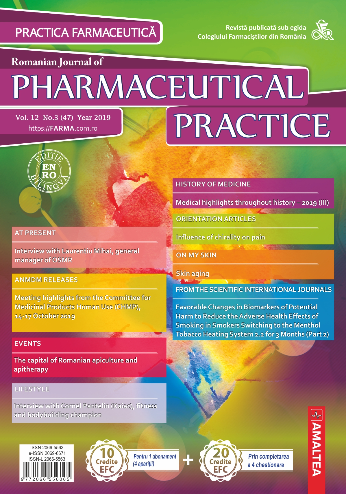 Romanian Journal of Pharmaceutical Practice - Practica Farmaceutica, Vol. 12, No. 3 (47), 2019