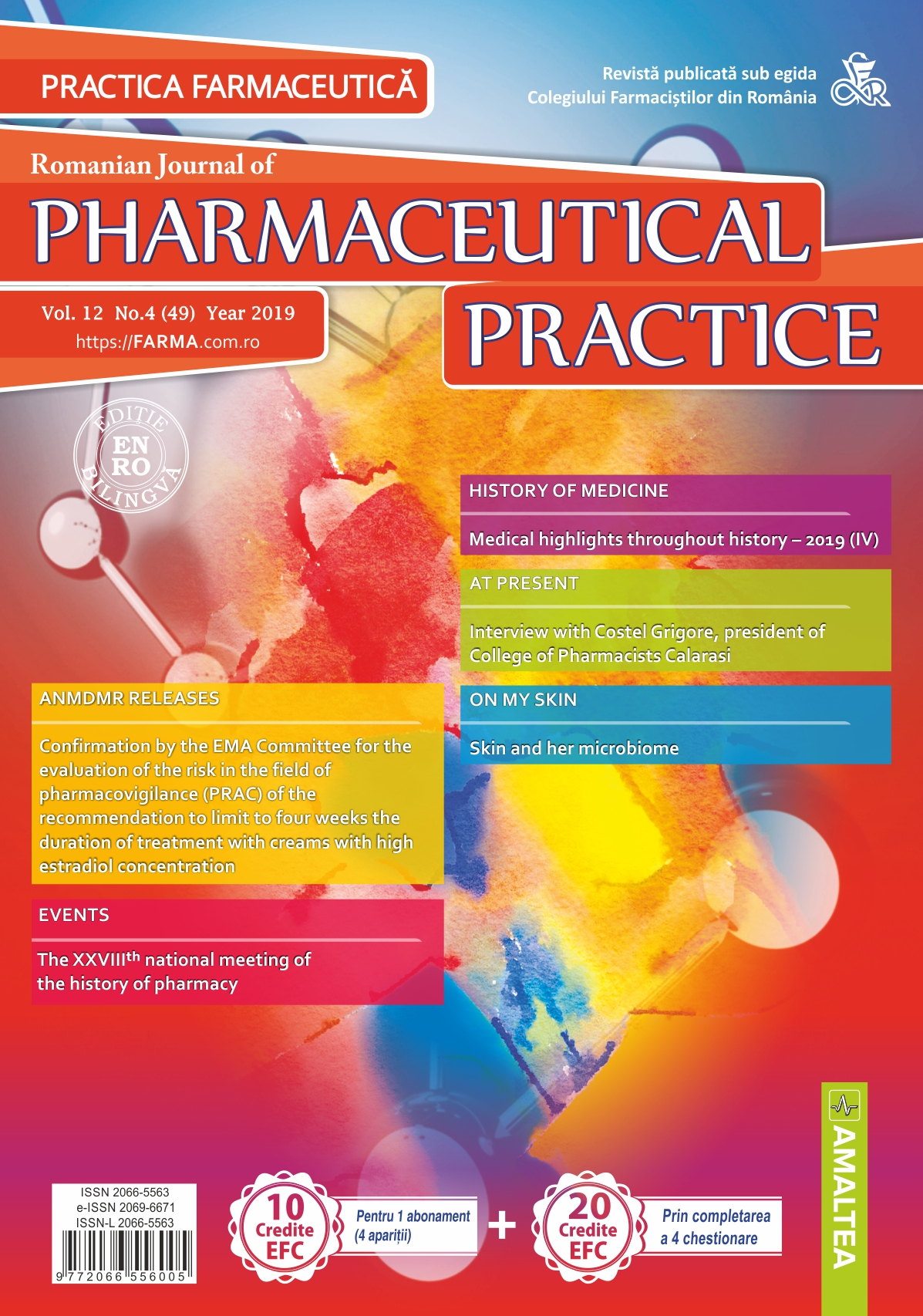 Romanian Journal of Pharmaceutical Practice - Practica Farmaceutica, Vol. 12, No. 4 (49), 2019