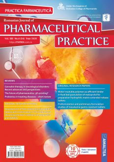 Romanian Journal of Pharmaceutical Practice | Vol. XIII, No. 4 (54), 2020