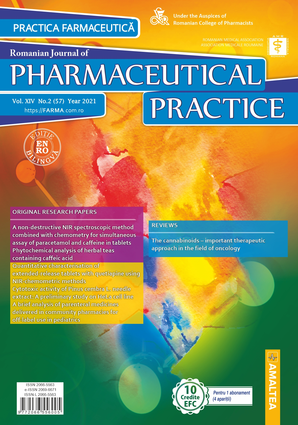 Romanian Journal of Pharmaceutical Practice - Practica Farmaceutica, Vol. XIV, No. 2 (57), 2021
